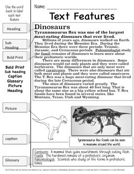 Dinosaurs: A Nonfiction Common Core Aligned Unit