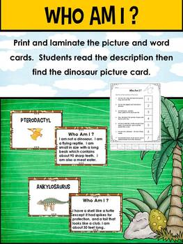 Dinosaurs – A Nonfiction Unit