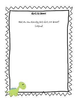 Dinosaurs:  A Report Writing and Organizing Lesson for Kids
