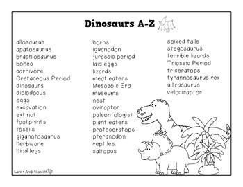 Dinosaurs A-Z Book