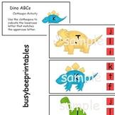 Dinosaurs ABCs Clothespin Activity - Preschool Kindergarten Alphabet