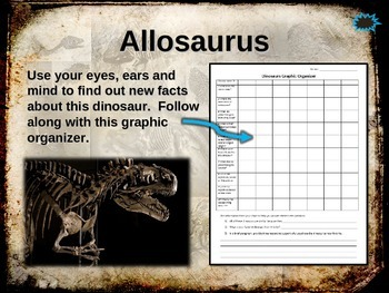 Dinosaurs: ALLOSAURUS - Ten facts in a dynamic, interactive PPT