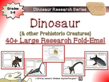 Dinosaurs Activity Mega Bundle Fold-Ems, Tri-Folds, Posters, Trading Cards