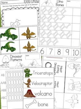 Dinosaurs Math & Literacy Activity Pack