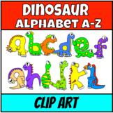 Dinosaur Alphabet A-Z Clip Art