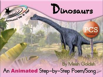 Dinosaurs - Animated Step-by-Step Poem - PCS