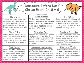 Dinosaurs Before Dark: Choice Boards