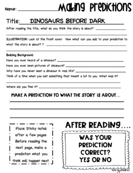 Dinosaurs Before Dark: Magic Tree House #1 Common Core Novel Study