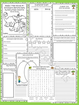 Magic Tree House Dinosaurs Before Dark Novel Study