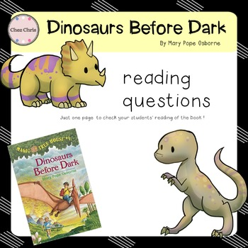 Dinosaurs Before Dark - Magic Tree House #1 - Reading Corner / Classroom Library