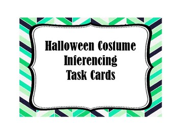 Inference Task Cards (Halloween Costumes)