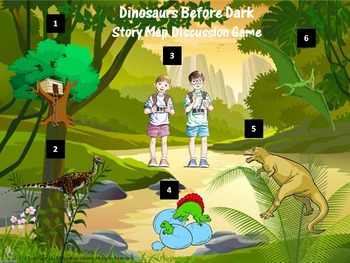 Dinosaurs Before Dark (Book #1) Story Map Discussion Game
