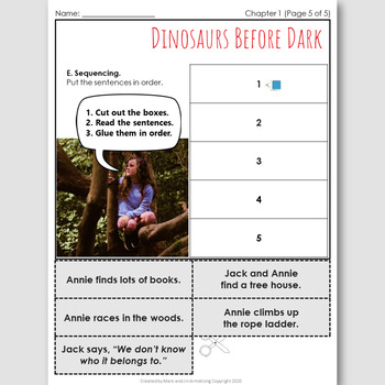 Dinosaurs Before Dark, an English Novel Study for Japanese Students