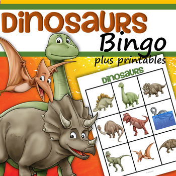 Dinosaurs Bingo Plus Supporting Printables Realistic AND Cute