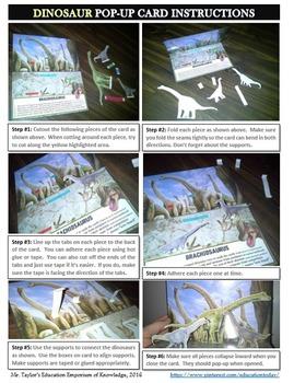 Dinosaurs: Brachiosaurus Pop-Up Card