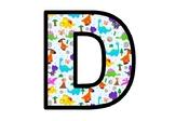 Dinosaurs, Bulletin Board Letters, Dino theme Alphabet Posters Classroom Decor