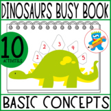 Dinosaurs Busy Book 1. 10 Activities. PreK, K and Sped Toddler Binder