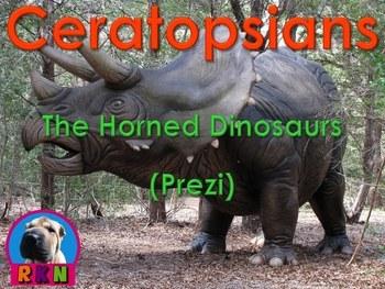 """Dinosaurs: Ceratopsians - """"The Horned and Beaked Dinosaurs"""" (Prezi)"""