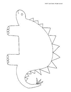 Decorate A Dinosaur! Circle & Line Art