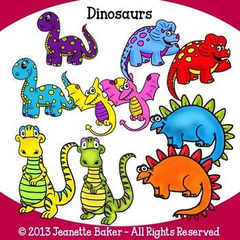 Dinosaurs Clip Art by Jeanette Baker