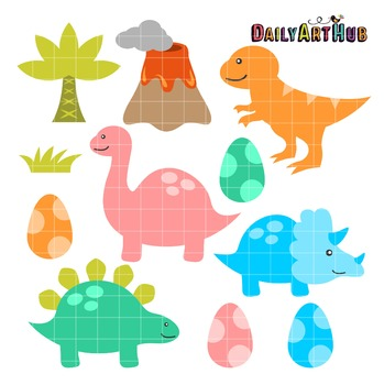 Dinosaurs Clip Art - Great for Art Class Projects!