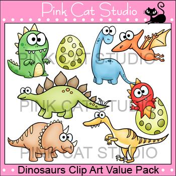Dinosaurs Clip Art Value Pack