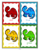 Dinosaurs Color Posters and Large Flashcards