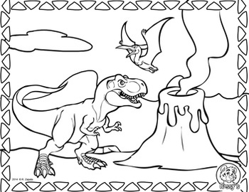 Jurassic Park T-Rex coloring page | Free Printable Coloring Pages | 270x350