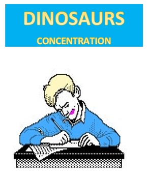Dinosaurs Concentration
