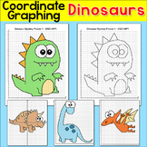 Dinosaurs Coordinate Graphing Pictures - Ordered Pairs Mystery Pictures