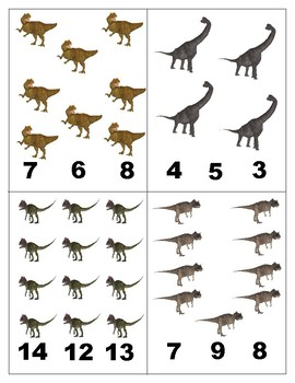 Dinosaurs: Count and Clip Cards for Math Centers