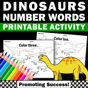 Dinosaurs Kindergarten Coloring Pages Special Education Math Counting Worksheets