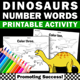 Dinosaur Math Worksheets, Kindergarten Coloring Sheets, Counting 1-10 Centers