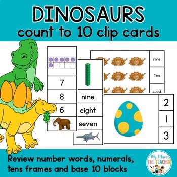 Dinosaurs Count to Ten Clip Card Activities