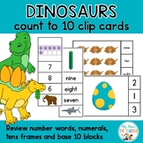 Dinosaurs Count to Ten Clip Card Activities
