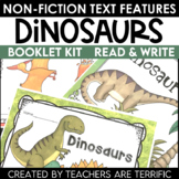 Dinosaurs Non-Fiction Text Features Booklet