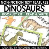 Dinosaurs Nonfiction Text Features Booklet
