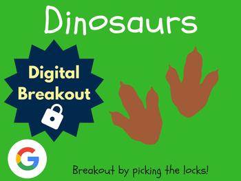 Dinosaurs - Digital Breakout! (Escape Room, Brain Break)