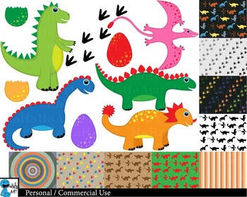 Dinosaurs Digital Clip Art Graphics 59 images cod99