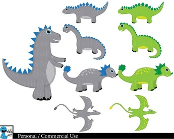 Dinosaurs Digital Clip Art Graphics 59 images cod99