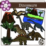 Dinosaurs Digital Clipart (color and black&white)
