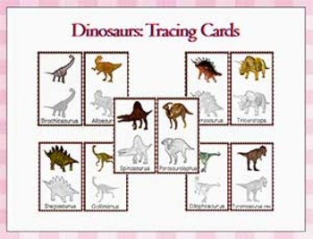 Dinosaurs: Dinosaur Tracing Cards