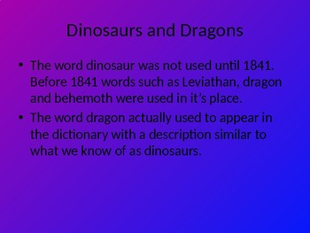 Dinosaurs, Dragons and Giants