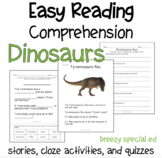 Dinosaurs - Easy Reading Comprehension for Special Education