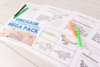 Dinosaurs - Easy Writing Scaffold - Using Preferred Topics to Initiate Writing