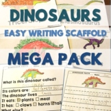 Dinosaurs - Easy Writing Scaffold - Using Preferred Topics