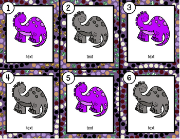 Dinosaurs~ Editable Write the Room