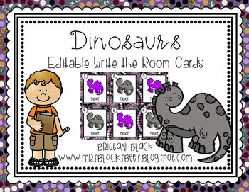 Dinosaurs~ Editable Write the Room