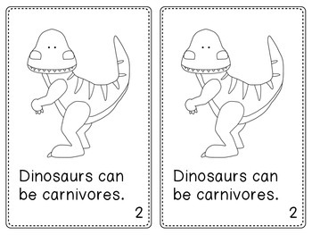 Dinosaurs Emergent Reader Text