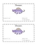 Dinosaurs - Emergent Reader